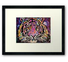 Pop Art Tiger Eyes Framed Print
