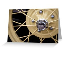 Model A Wheel Greeting Card
