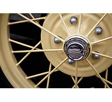 Model A Wheel Photographic Print