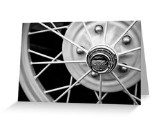 Model A Wire Wheel Greeting Card