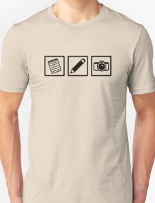 Journalist equipment Unisex T-Shirt