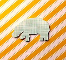 Hippo -plaid and stripes by jcdorsaneo
