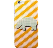 Hippo -plaid and stripes iPhone Case/Skin