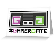 Pink and Green #GamerGate NES Controller Greeting Card