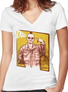 Taxi! Women's Fitted V-Neck T-Shirt