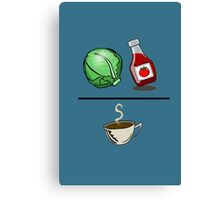 Lettuce Ketchup/Coffee Canvas Print