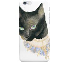 Friday the 13th Pt1: Unlucky Fancy Black Cat Portrait iPhone Case/Skin