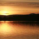 Loch Skene with Barmekin Hill by Suzanne Forbes-Murray
