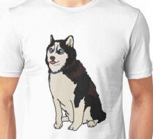 Staring Husky Unisex T-Shirt