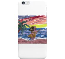 The embossed beach scene iPhone Case/Skin