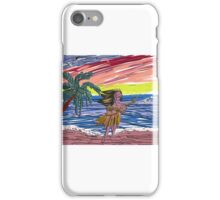 The embossed beach scene iPhone Case/Skin