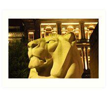 Lion in George Square Glasgow Art Print