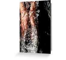 playing with water Greeting Card