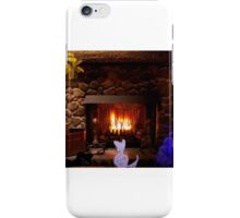 Warm and cozy by fireplace iPhone Case/Skin