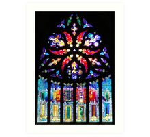 Stained Glass window in Linlithgow Art Print