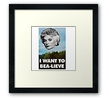I Want to Bea-lieve Framed Print