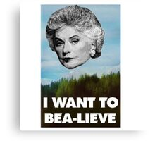 I Want to Bea-lieve Canvas Print