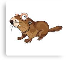 Groundhog Cartoon Character Canvas Print