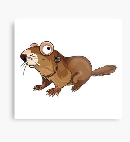 Groundhog Cartoon Character Metal Print