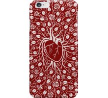 rose vine and human heart iPhone Case/Skin