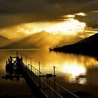 Lake Te Anau at sunset. South Island, New Zealand. (5) by Ralph de Zilva