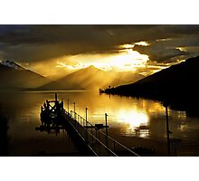 Lake Te Anau at sunset. South Island, New Zealand. (5) Photographic Print