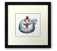 Happy Chicken Cartoon Character Framed Print