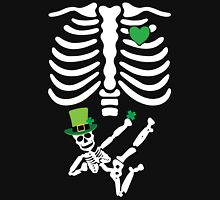 Pregnant Leprechaun Skeleton T Shirt St. Patrick's Day  Womens Fitted T-Shirt