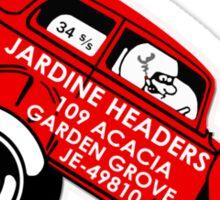 Jardine Headers Sticker