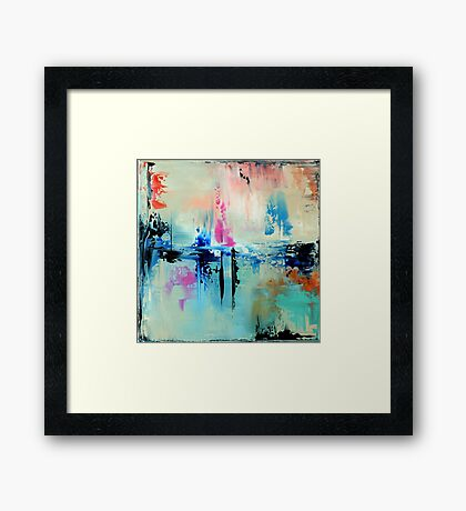 Blue Art Painting, Abstract Painting,Abstract print,  Wall Art, Wall Decor, Modern  Art, Office Art decor, Home Decor Framed Print