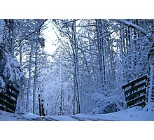 Gateway to Old Man Winter...... The Great White North..... Photographic Print