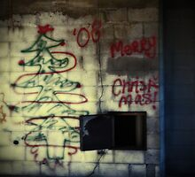 Merry Christmas Graffiti by Tara Paulovits