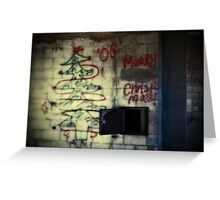 Merry Christmas Graffiti Greeting Card