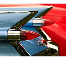 Cadillac Taillights Photographic Print