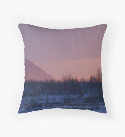 4:30pm~~Alpenglow Sunset Throw Pillow