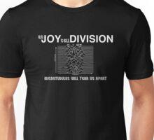 (en) JOY (cell) DIVISION (white text) Unisex T-Shirt
