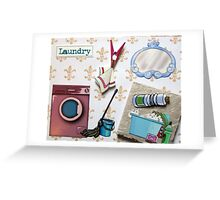 Laundry door sign Greeting Card