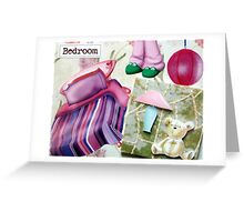 Bedroom door sign Greeting Card