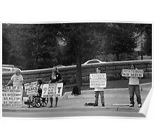 War Protest Austin Texas Poster