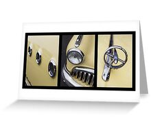 1949 Buick Tryptych Greeting Card
