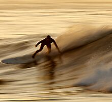 Surfing on Gold Water by David Orias