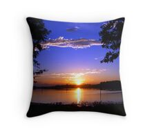 Oak Harbor Sunrise Throw Pillow