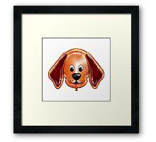 Happy Dog Cartoon Character Framed Print