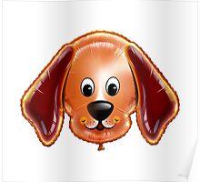 Happy Dog Cartoon Character Poster