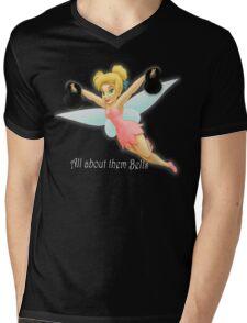 Tinkerbell Lifting Kettlebells Mens V-Neck T-Shirt