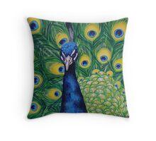 Seductive Peacock Throw Pillow