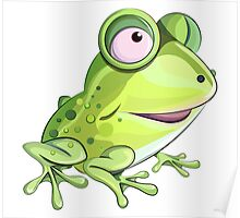 Happy Frog 1 Cartoon Character Poster
