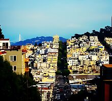 View from Lombard Street by noondaydesign