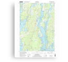 Maine USGS Historical Map Phippsburg 102877 2000 24000 Canvas Print