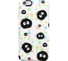 Soot Sprite with stars iPhone Case/Skin